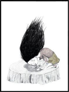 Innrammet bilde fra Bob Noon, illustrasjon av Stine Illum - pris 1120,-| Norway Designs
