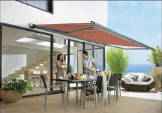 Markilux 990 - compact cassette patio awning that is small, practical and functional.