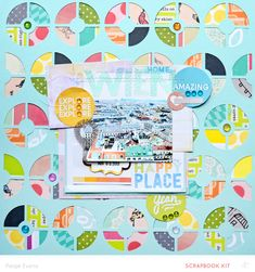 WIEN scrapbook layout by Paige Evans | made with her Silhouette CAMEO