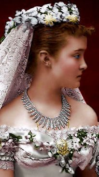 HRH Princess Helena, Duchess of Albany (born Princess Helena of Waldeck and Pyrmont) on her wedding day to HRH Prince Leopold, Duke of Albany