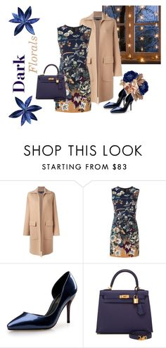 """Dark Florals"" by sjk921 ❤ liked on Polyvore featuring Rochas, Kenzo, Hermès and darkflorals"