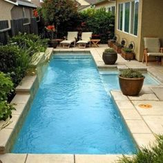Backyard Pool Landscaping Ideas With Pot Plants And Evergreens , Nice Backyard Pool Landscaping Ideas In Landscaping And Outdoor Building Category