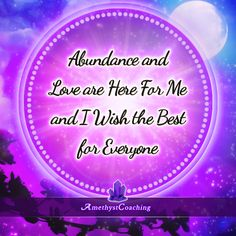 Today's Centering Thought: Abundance And Love Are Here For Me And I Wish The Best For Everyone <3 #affirmation #coaching It is not enough just to repeat words, while repeating the affirmation, feel and believe that the situation is already real. This will put more energy into the affirmation.