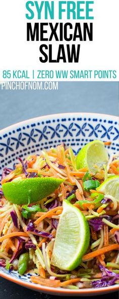 Syn Free Mexican Slaw | Pinch Of Nom Slimming World Recipes   85 kcal | Syn Free | Zero Weight Watchers Smart Points
