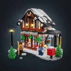 Lego Christmas Village, Lego Winter Village, Lego Ninjago City, Lego City, Lego Projects, Projects To Try, Lego Gingerbread House, Lego Minifigs, Lego Group