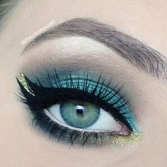 Inspired by the stunning Arabic princess herself, this sultry look is sure to capture the attention of your very own prince.  Products Used: Makeup Geek Pigment in Liquid Gold  Other Products Needed: Makeup Geek Eye Shadows in Mermaid, Shark Bait, Hipster, Corrupt, Bling, Makeup Geek Gel Liner in Immortal
