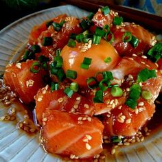 japanese food, sushi, sashimi, japanese sweets, for japan lovers Japanese Food Sushi, Japanese Dishes, Japanese Sweets, Seafood Recipes, Cooking Recipes, Cooking Bacon, Food Menu, My Favorite Food, Asian Recipes