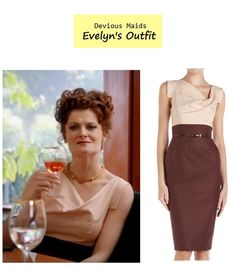 Posted last week on the blog: sneak peek from the pilot episode of Devious Maids | Rebecca Wisocky as Evelyn Powell #tvfashion #fashion #outfits
