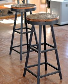 hand made reclaimed barnboard u0026 custom raw steel bar stools by ron corl design ltd
