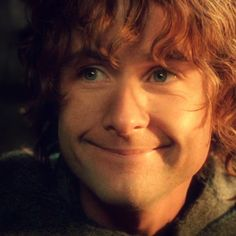 "The character 'Pippin,' as portrayed by Billy Boyd in the epic Peter Jackson film adaptation of ""The Lord of the Ring."""