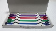 Tupperware Sheerly Elegant Swizzle Sticks Set for Glass & Pitcher Sets NEW Ebay Shopping, Glass Pitchers, Tupperware, Sticks, Elegant, Classy, Tub, Chic