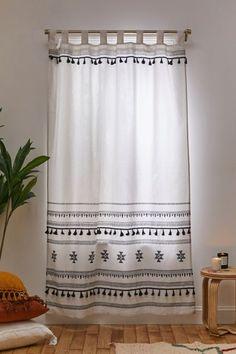 Tassel Curtains, Home Curtains, Printed Curtains, Curtains Living, Salon Boho Chic, Cortinas Boho, Living Room Decor, Bedroom Decor, Colourful Living Room