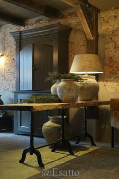 Esatto: Always something new by esatto . Country Interior, Interior And Exterior, Interior Decorating, Interior Design, French Decor, Rustic Interiors, Modern Rustic, Home And Living, Rustic Decor