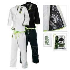 An adult caiman has no natural predators and one look at them in action makes it easy to see why. The Century Caiman Brazilian Jiu-Jitsu Uniform showcases this domineering attitude. Be dominating by ordering yours exclusively at KarateMart.com.