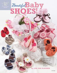 Beautiful Knit Baby Shoes | A Book of 9 easy-to-do patterns for adorable styles