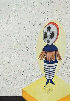 """Bauhaus Dance Pen/Marker/Colored Pencil 18x24"""" https://ift.tt/2GnEyPq"""