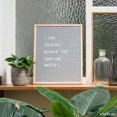 Premium Letterboards Felt letterboard L Grey-Oak (incl. white letterset) - brand FUNKK