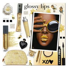 """Glossy Honey Lips"" by theseapearl ❤ liked on Polyvore featuring beauty, Bite, NYX, Sue Devitt, Burberry, Kate Spade, Lipsy, LORAC, Lilly Pulitzer and Mally"