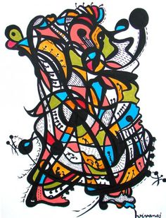 On porte le fardeau By Vera ivanaj original acrylic painting available for purchase on www.passionartly.com By buying this artwork you are doing a good deed, we pledge to donate 5% to the association :French Esophageal Atresia Association (AFAO) - French Charity for Children