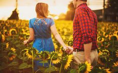 Sunflower Field Engagement Session: Baltimore Engagement Session