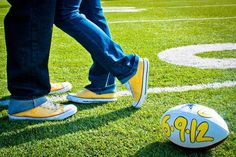 Beautifully Dunn Photography » Smile, Laugh, Love » Whalen Engagements football theme engagements