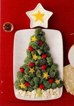 Karan's Kitchen: Christmas Party Food - Broccoli Tree