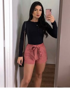 Casual summer outfits ideas chic and spring super outfits Cute Casual Outfits, Basic Outfits, Girly Outfits, Short Outfits, Fashion Outfits, Cute Outfits For Party, Summer Outfits Women, Spring Outfits, Winter Outfits