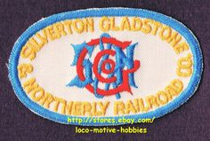 LMH PATCH Badge  SILVERTON GLADSTONE & NORTHERLY Railroad  S&N  SG&N Railway picclick.com