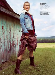 fashion editorials, shows, campaigns & more!: farm fresh: carolyn murphy by cedric buchet for glamour september 2014 Farm Fashion, Country Fashion, High Fashion, Autumn Fashion, Vogue Fashion, Fashion Shoot, Editorial Fashion, Fashion Trends, Carolyn Murphy