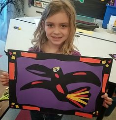 Second graders made these awesome raven collages after learning a bit about the Native Americans of the Pacific Northwest.  We started b...