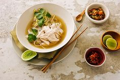 Vietnamese Inspired Chicken Soup with chilli and lime