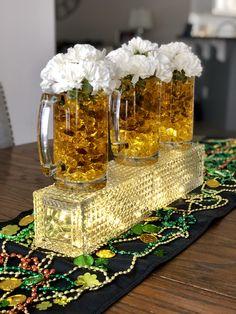 Cheers for Beers Centerpiece St. Beer Birthday Party, 40th Birthday Parties, 60th Birthday, Beer Bottle Centerpieces, Birthday Centerpieces, 40th Bday Ideas, Birthday Ideas, Diaper Parties, Oktoberfest Party