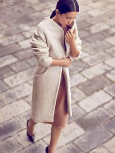 Love the coat and combination of colors , perfect for fall.