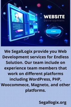 We SegalLogix provide you Web Development services for Endless Solution. Our team include on experience team members that work on different platforms including WordPress, PHP, Woocommece, Magneto, and other platforms. Facebook Marketing, Digital Marketing, Search Ads, Google Ads, Facebook Instagram, Lead Generation, Search Engine Optimization, Web Development, Lorem Ipsum