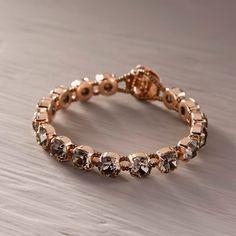 Moja po prostu. Bransoletka z szarymi kryształami - CALEIDOSCOPIO - Kate&Kate Contemporary Classic, Contemporary Design, Beaded Bracelets, Stylish, Gold, Leather, Accessories, Jewelry, Fashion