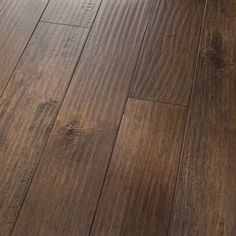"Show details for Homerwood Prefinished Character Amish  Maple Sugar- 4"" Dark brown hardwood, handscraped, wide plank"