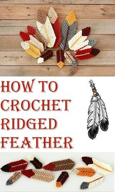 How to Crochet Ridged Feather Step by Step   #crochet #feather #ridged #step