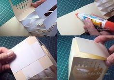 Бумажный куб-туннель Подсолнухи: мастер-класс