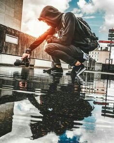 I love this because it shows the perspective of the photographer and the different ways he takes pictures. Smoke Photography, Photography Poses For Men, Urban Photography, Creative Photography, Amazing Photography, Street Photography, Portrait Photography, Capture Photography, Photography Awards