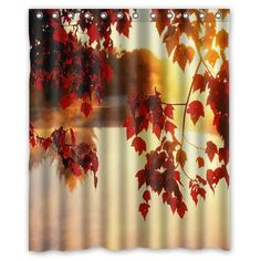 "Amazon.com - Custom Autumn Waterproof Polyester Fabric 60""(w) x 72""(h) Shower Curtain and Hooks -"