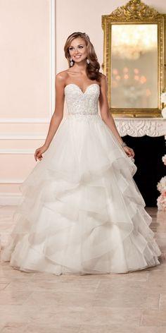 Stella York A-line Wedding Dress with Lace Bodice style 6330 b / http://www.deerpearlflowers.com/stella-york-fall-2016-wedding-dresses/2/                                                                                                                                                     More