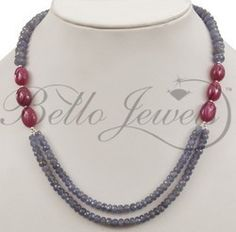 JEWELRY TANZANITE BEADED NECKLACES « Fashion Jewelry