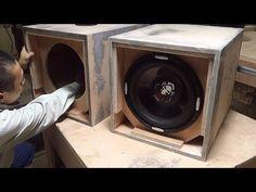 Speaker Box Diy, Speaker Plans, Speaker Box Design, 12 Inch Subwoofer Box, Subwoofer Box Design, Sub Box Design, Car Audio Installation, Car Audio Systems, Modern Tiny House