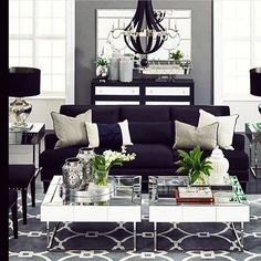 Black , white and grey in a nice combo inspiration #karismainterior #inspiration…