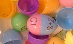 Addition Eggs!  Quick to make, cheap, and fun for kindergarten math centers!!