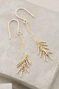 Spiked Strand Earrings - anthropologie.com