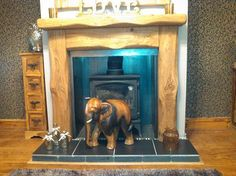 """""""Really pleased with our fire surround. Delivered within 4 days of order. Wish everyone in business worked this efficiently. Would recommend them no problem. Really made our room complete."""" -Mr Mancini Oak Beam Fireplace, Railway Sleepers, Fire Surround, The Rest Of Us, Solid Oak, Beams, Rustic, Traditional, Business"""