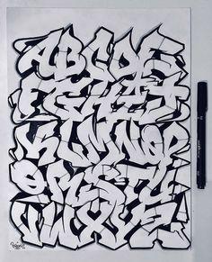 Cool Graffiti Fonts, Graffiti Pens, Graffiti Words, Graffiti Writing, Street Art Graffiti, Grafitti Alphabet, Graffiti Alphabet Styles, Graffiti Lettering Alphabet, Tattoo Lettering Fonts