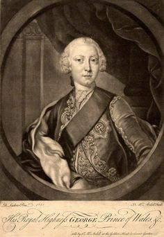 "Mezzotint of King George III as Prince of Wales in 1751George III (George William Frederick; 4 June 1738 – 29 January 1820) was King of Great Britain and King of Ireland from 25 October 1760 until the union of these two countries on 1 January 1801, after which he was King of the United Kingdom of Great Britain and Ireland until his death. He was concurrently Duke and prince-elector of Brunswick-Lüneburg (""Hanover"") in the Holy Roman Empire until his promotion to King of Hanover on 12"