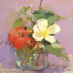 """Posted at: https://roosschuring.com/still-life/violet-red-white-yellow/ Painting Flowers. I painted this one on a beach no less :) you can't see it obviously. I used the lilac paper again as background. I remember having to finish quickly because a big storm & rain was coming. FL19 Floral Still Life Painting """"Violet, Red, White & ... There's more at: https://roosschuring.com #Art, #Floral, #Floralart, #Flowers, #Gouache, #Paintingflowers, #Stilllife, #"""